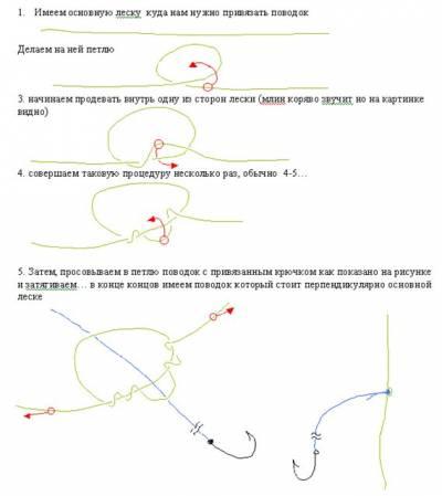 Как сделать поводок на несколько крючков